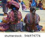 scene with indigenous women... | Shutterstock . vector #546974776