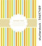 template frame design for... | Shutterstock .eps vector #54697489