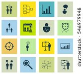 set of 16 authority icons.... | Shutterstock .eps vector #546979948