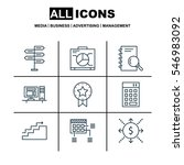 set of 9 project management...   Shutterstock . vector #546983092