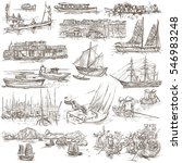 hand drawn illustrations of... | Shutterstock . vector #546983248