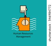icon human resource management. ...   Shutterstock .eps vector #546984772