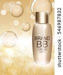 bb cream bottle template for...   Shutterstock .eps vector #546987832