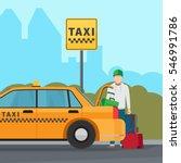 taxi city transportation... | Shutterstock .eps vector #546991786