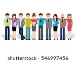 group of creative people ... | Shutterstock .eps vector #546997456