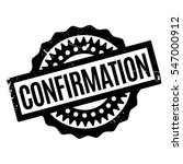 confirmation rubber stamp.... | Shutterstock .eps vector #547000912