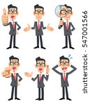 six patterns of pose and... | Shutterstock .eps vector #547001566