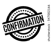 confirmation rubber stamp.... | Shutterstock .eps vector #547002166
