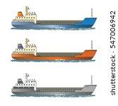 cargo container ships. vector... | Shutterstock .eps vector #547006942