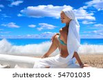 beautiful young woman relaxing... | Shutterstock . vector #54701035