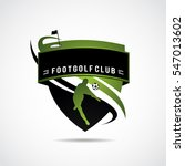 footgolf logo template. vector... | Shutterstock .eps vector #547013602