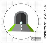 tunnel with road vector icon | Shutterstock .eps vector #547015042