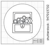 treasure chest | Shutterstock .eps vector #547015732