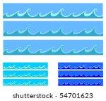 seamless abstract blue... | Shutterstock .eps vector #54701623