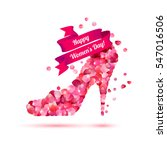 happy woman's day  8 march...   Shutterstock .eps vector #547016506