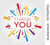 thank you. poster  banner ... | Shutterstock .eps vector #547020952