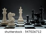 black and white king and knight ... | Shutterstock . vector #547026712