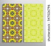 vertical seamless patterns set  ... | Shutterstock .eps vector #547026796