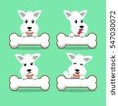cartoon character white... | Shutterstock .eps vector #547030072