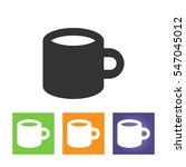 coffee mug   vector icon... | Shutterstock .eps vector #547045012