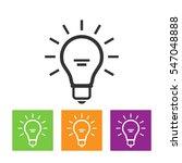 light bulb line icon vector ... | Shutterstock .eps vector #547048888