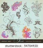 vector set  swirls   variety of ... | Shutterstock .eps vector #54704920