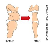 weight loss before and after | Shutterstock .eps vector #547049605