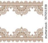 seamless pattern indian brown... | Shutterstock .eps vector #547051558