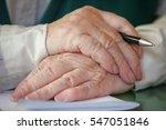 hands of a senior man holding a ...   Shutterstock . vector #547051846