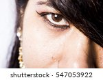 indian girl with village and... | Shutterstock . vector #547053922