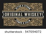 whiskey label with vintage... | Shutterstock .eps vector #547054072
