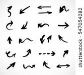 hand drawn arrows  vector set   Shutterstock .eps vector #547054282