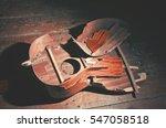 broken classical guitar | Shutterstock . vector #547058518