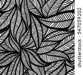 vector seamless leaf black and... | Shutterstock .eps vector #547059202