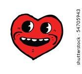 happy heart cartoon | Shutterstock .eps vector #54705943