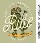 seek the adventures   ride the... | Shutterstock .eps vector #547059865