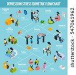 colorful depression isometric... | Shutterstock .eps vector #547061962