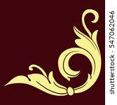 vintage baroque corner scroll... | Shutterstock .eps vector #547062046