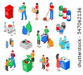 garbage and plastic recycling... | Shutterstock .eps vector #547062136