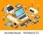 wireless technology electronic... | Shutterstock .eps vector #547062172