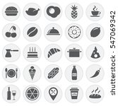 Food Icons Set Simple Circles
