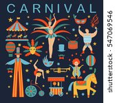 vector collection with carnival ... | Shutterstock .eps vector #547069546