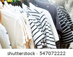 clothes on clothes rail in... | Shutterstock . vector #547072222