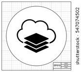 virtual machine simple icon | Shutterstock .eps vector #547074502