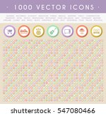 set of 1000 icons on circular... | Shutterstock .eps vector #547080466