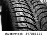 a tires on wheels for car  | Shutterstock . vector #547088836