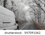 white van transporting on... | Shutterstock . vector #547091362