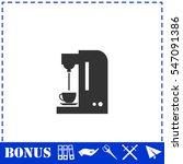 coffee maker machine icon flat. ... | Shutterstock .eps vector #547091386