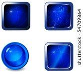 vector set of blank blue metal... | Shutterstock .eps vector #54709864