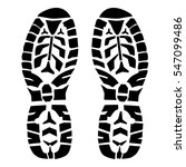 boot step prints isolated on... | Shutterstock .eps vector #547099486